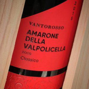 Wijnhandel Valgatara afwerking VANTOROSSO in houten kistje
