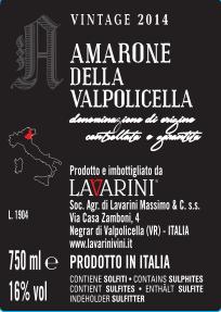 valpolicella Amarone wijnhandel Valgatara Belgie ticket back